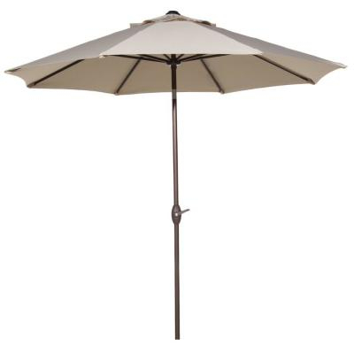 Newest Wiebe Auto Tilt Square Market Sunbrella Umbrellas Throughout Abba Patio 9 Ft (View 23 of 25)