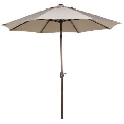 Newest Wiebe Auto Tilt Square Market Sunbrella Umbrellas Throughout Abba Patio 9 Ft (View 12 of 25)