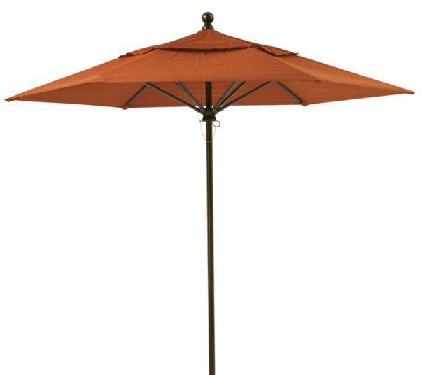 Newest Wiechmann Market Sunbrella Umbrellas Regarding Patio Umbrellas Wiechmann Push Tilt 9' X 7' Rectangular Market (View 15 of 25)