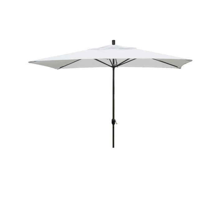 Northfleet 10' X 6' Rectangular Market Umbrella throughout 2017 Bonview Rectangular Market Umbrellas