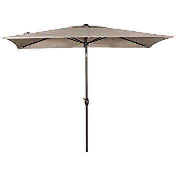 Northfleet Rectangular Market Umbrellas inside Fashionable Amazon : Adriatic 6.5-Ft X 10-Ft Rectangular Market Umbrella In