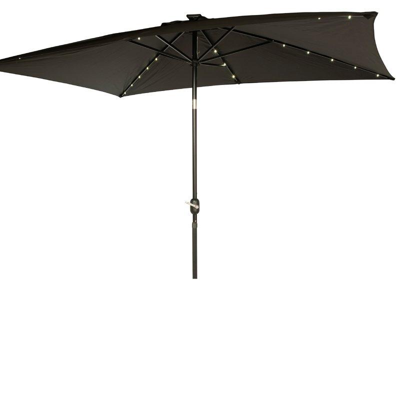 Northfleet Rectangular Market Umbrellas throughout Famous Mertie 10' X 6.5' Rectangular Market Umbrella