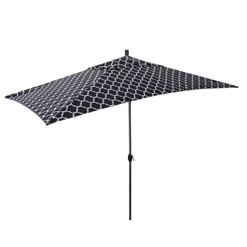 Northfleet Rectangular Market Umbrellas Within Most Up To Date Sherlyn 10' X 6' Rectangular Market Umbrella (View 17 of 25)