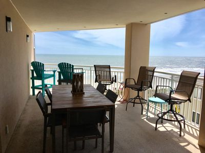 Oceanfront, Huge Deck/wi Fi/free 2 Chr And Umbrella Set Up Mem Day Labor Day – Cherry Grove Beach Throughout Well Known Hyperion Beach Umbrellas (View 10 of 25)