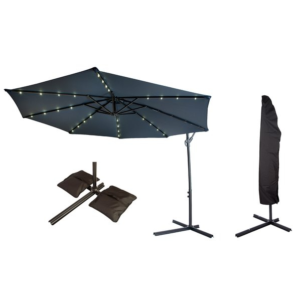 Offset Patio 10' Cantilever Umbrella Within Best And Newest Yajaira Cantilever Umbrellas (View 22 of 25)
