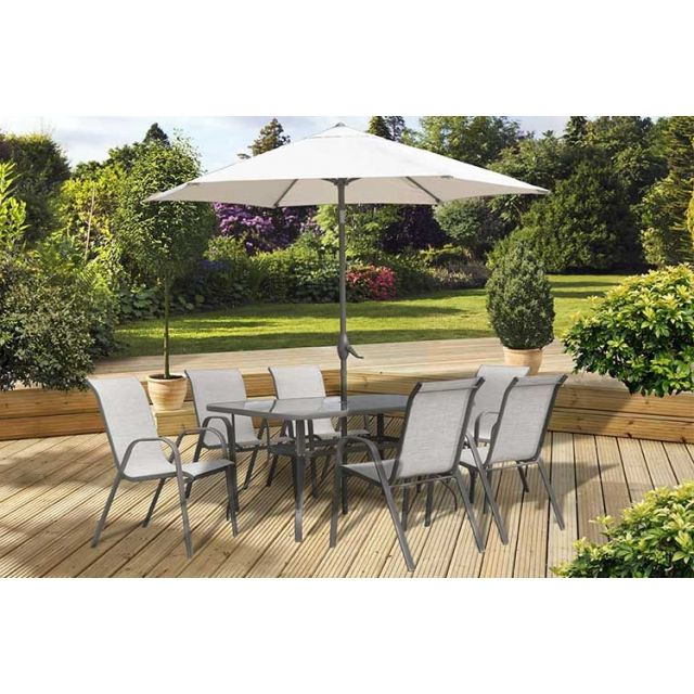 Outdoor Dining Sets: Dine Alfresco In Style With Oldrids With Regard To Famous Gainsborough Market Umbrellas (View 19 of 25)