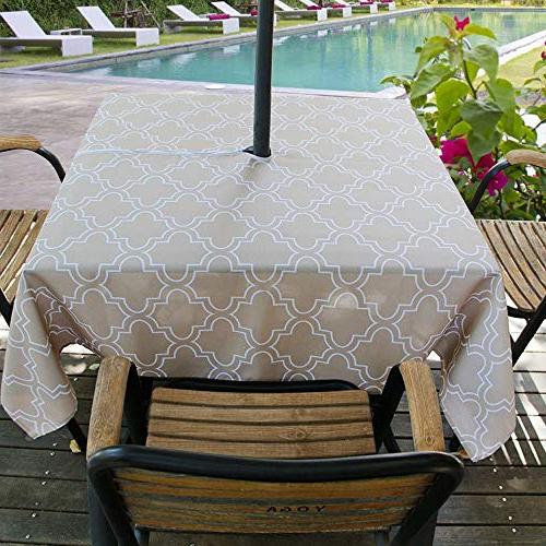 Outdoor Rectangular Tablecloths: Amazon Regarding Most Popular Madalyn Rectangular Market Sunbrella Umbrellas (View 22 of 25)
