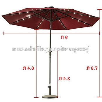 Outdoor Sunshine Solar Powered Led Lights Patio Umbrella Crank Tilt – Buy  Solar Powered Patio Umbrella,led Lights Umbrella,outdoor Umbrella Product  On Intended For Famous Solar Powered Led Patio Umbrellas (View 9 of 25)