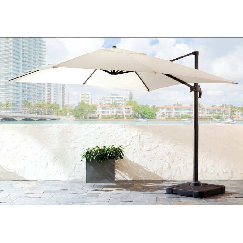 Outdoors Pertaining To Jendayi Square Cantilever Umbrellas (View 14 of 25)