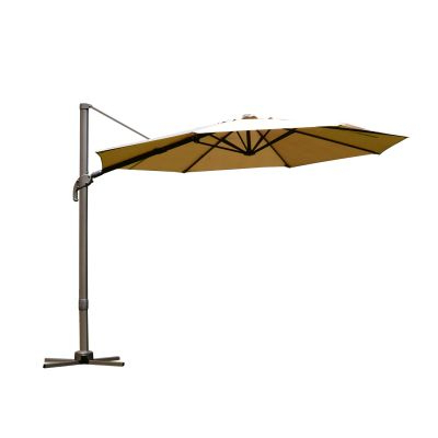 Outsunny Decorative Round Cement Weighted Sun Shade Poolside Patio Inside Favorite Imogen Hanging Offset Cantilever Umbrellas (View 18 of 25)