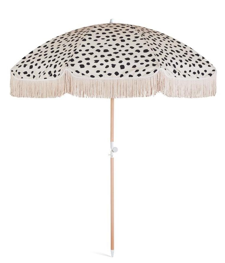 Pau Rectangular Market Umbrellas Pertaining To Trendy Black Sands Beach Umbrella In  (View 15 of 25)