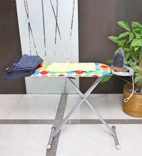 Peng Essentials Hetty Steel Ironing Board Regarding Widely Used Hettie Solar Lighted Market Umbrellas (View 21 of 25)