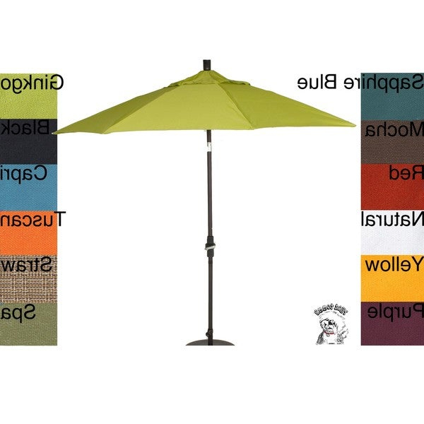 Phat Tommy 9 Foot Pacifica Fabric Aluminum Market Patio Umbrella With Regard To Current Phat Tommy Cantilever Umbrellas (View 7 of 25)