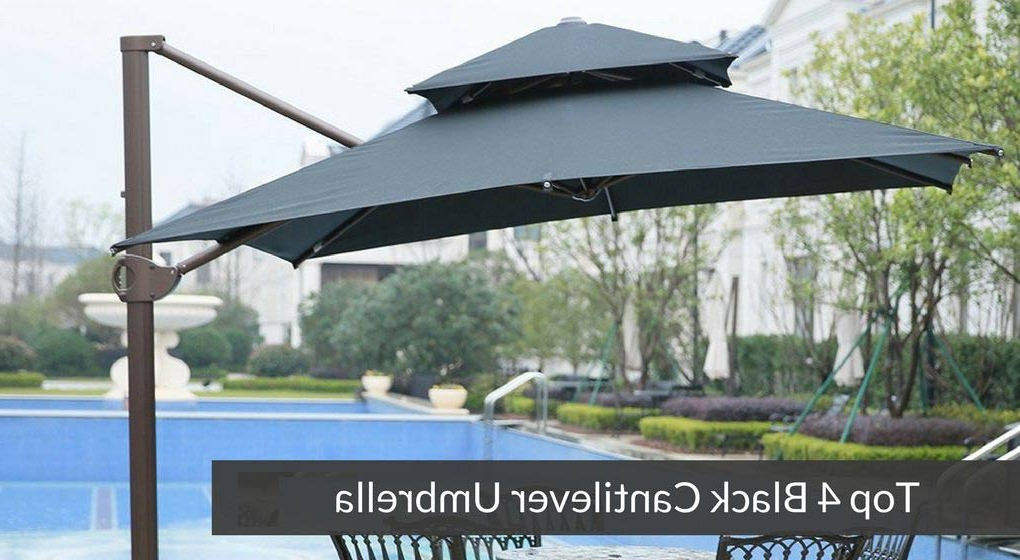 Phat Tommy Cantilever Umbrellas In Fashionable Black Cantilever Umbrella Archives – The Smartest Buyer (View 12 of 25)