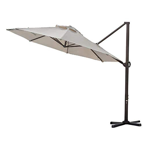 Phat Tommy Cantilever Umbrellas Inside Most Recent Best White Cantilever Umbrella For 2019 – Topreviews (View 22 of 25)