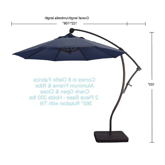 Phat Tommy Cantilever Umbrellas Intended For Best And Newest Phat Tommy  (View 4 of 25)