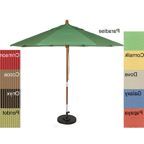 Phat Tommy Cantilever Umbrellas Intended For Favorite Shop Phat Tommy 9 Foot Sunbrella Fabric Marenti Wood Market Patio (View 12 of 25)