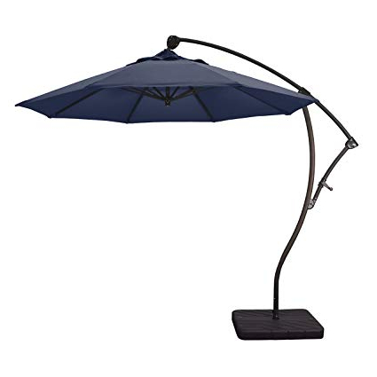 Phat Tommy Cantilever Umbrellas Throughout Popular Phat Tommy 9 Ft Cantilever Offset Aluminum Market Patio Umbrella With Tilt – For Shade And Outdoor Living, Navy (View 3 of 25)
