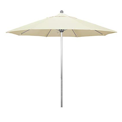 Phat Tommy Cantilever Umbrellas With Regard To Well Known Amazon : Phat Tommy 9 Ft Silver Anodized Commercial Patio Market (View 9 of 25)
