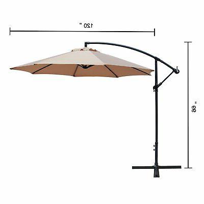 Picclick Regarding Trotman Cantilever Umbrellas (View 4 of 25)