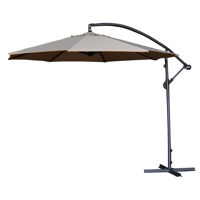Popular Irven 10' Cantilever Umbrella With Jaelynn Cantilever Umbrellas (View 21 of 25)