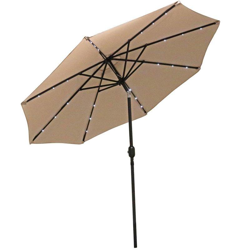 Popular Jericho 9' Market Umbrella Within Kenn Market Umbrellas (View 23 of 25)