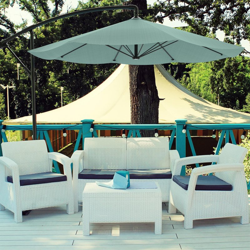 Popular Ketcham Cantilever Umbrellas For Vassalboro 10' Cantilever Umbrella (View 25 of 25)