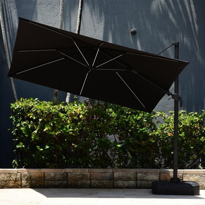Popular Maglione Fabric Cantilever Umbrellas In Spitler 10' Square Cantilever Umbrella (View 17 of 25)