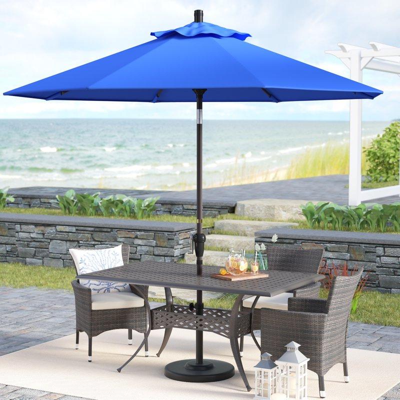 Popular Mullaney 9' Market Sunbrella Umbrella Regarding Mullaney Market Umbrellas (View 13 of 25)