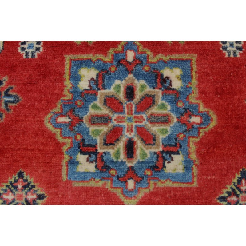 Popular One Of A Kind Brubaker Kazak Hand Knotted Wool Red Area Rug Within Brubaker Market Umbrellas (View 3 of 25)