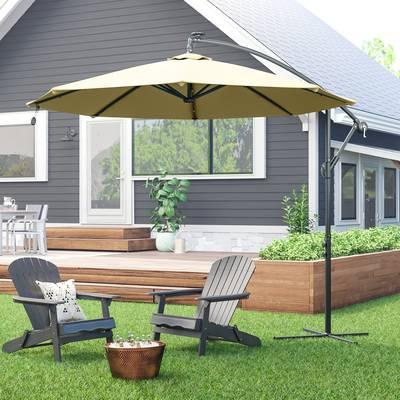 Popular Ryant Cantilever Umbrellas For Ryant 9' Cantilever Umbrella & Reviews (View 11 of 25)