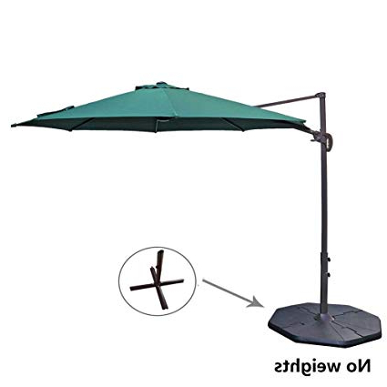 Popular Voss Cantilever Sunbrella Umbrellas Throughout Le Papillon 10 Ft Cantilever Umbrella Outdoor Offset Patio Umbrella Easy  Open, Tilt & 360 Swivel For Desired Shade All Day (View 6 of 25)