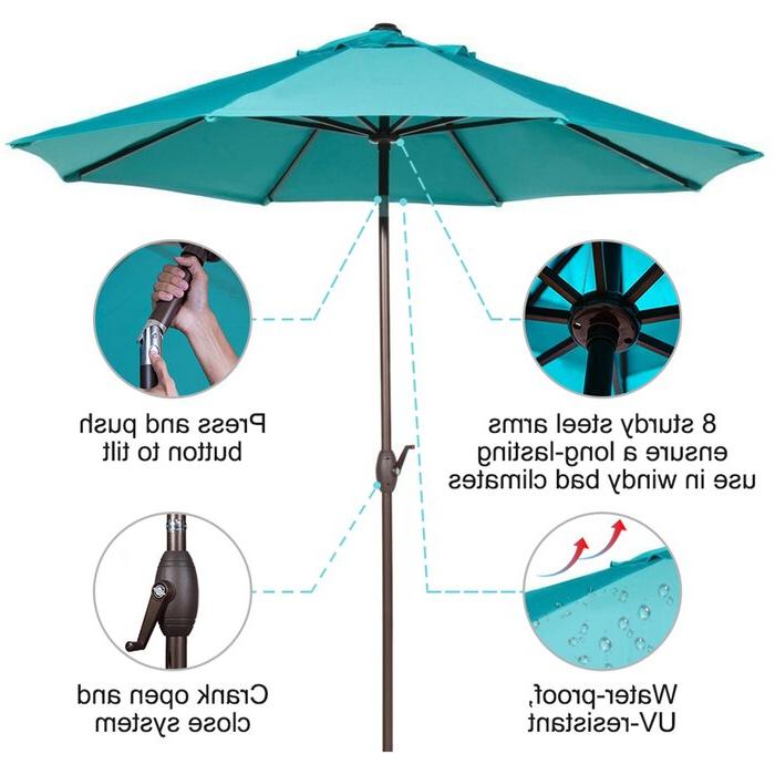 Popular Winchester 9' Market Umbrella Within Winchester Zipcode Design Market Umbrellas (View 20 of 25)