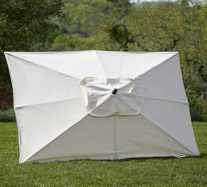 Pottery Barn Rectangular Market Umbrella & Pole Set – Solid In Preferred Solid Rectangular Market Umbrellas (View 10 of 25)