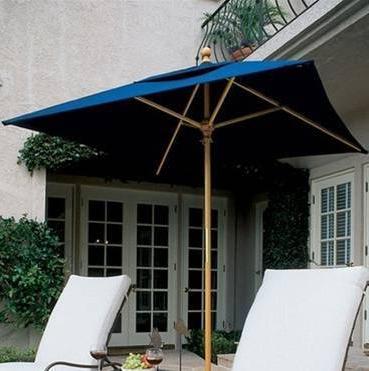 Preferred 6Ft Square Wooden Market Umbrella W/ Sunbrella Canopy With Wiebe Market Sunbrella Umbrellas (View 21 of 25)