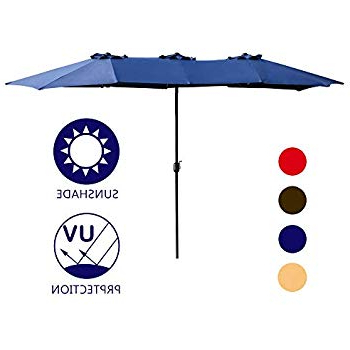 Preferred Amazon : Best Choice Products 15' Outdoor Umbrella Double Sided Intended For Eisele Rectangular Market Umbrellas (View 11 of 25)