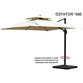 Preferred Amazon : Domi Outdoor Living 1010 Feet Square Cantilever With Regard To Windell Square Cantilever Umbrellas (View 12 of 25)
