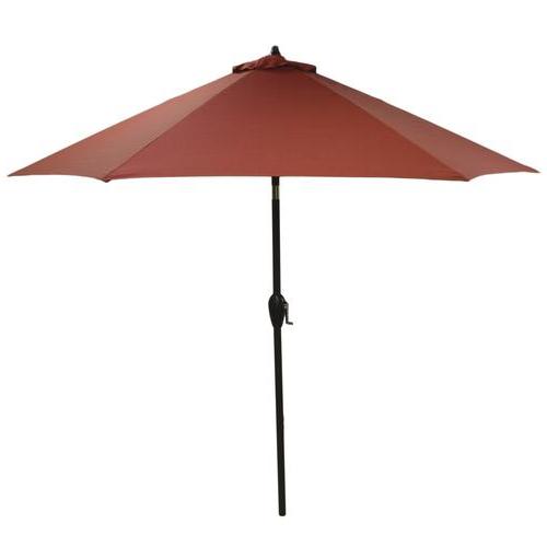 Preferred Backyard Creations™ 9' Ashland Solid Patio Market Umbrella At Menards® Inside Solid Market Umbrellas (View 18 of 25)