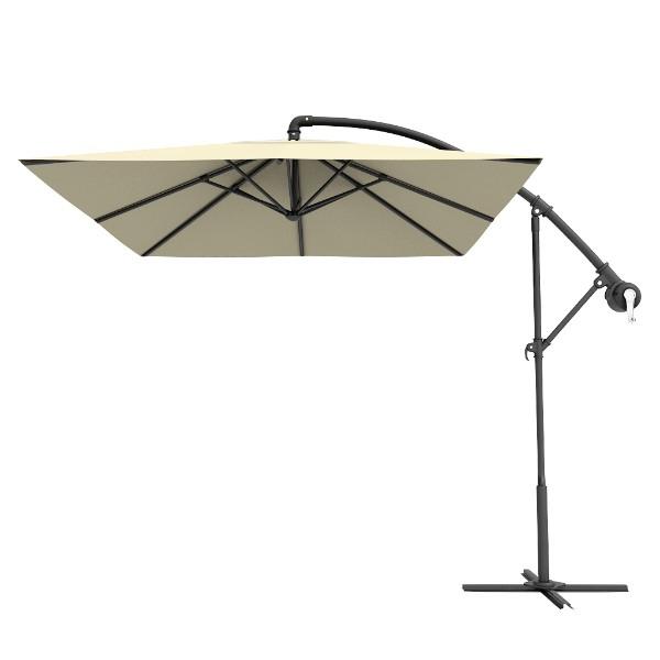 Preferred Frederick Square Cantilever Umbrellas Regarding Beige Square Outdoor Patio Offset Cantilever Umbrellas (View 22 of 25)