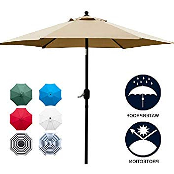 Preferred Kearney Market Umbrellas Throughout Amazon : Tropishade 9 Ft Bronze Aluminum Patio Umbrella With (View 20 of 25)