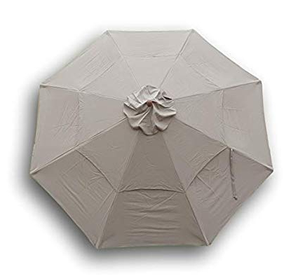 Preferred Keegan Market Umbrellas Pertaining To Formosa Covers Double Vented Replacement Umbrella Canopy For 11Ft 8 Ribs In  Taupe (Canopy Only) (View 23 of 25)