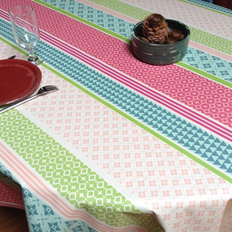 Preferred Toile Basque Cotton And Coated Tablecloths Pertaining To Pau Rectangular Market Umbrellas (View 19 of 25)