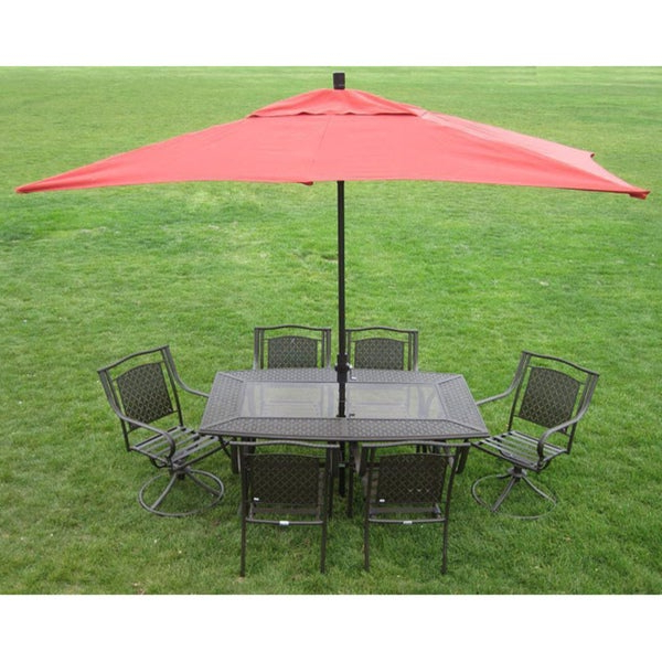 Premium 10' Rectangular Patio Umbrella Regarding Newest Solid Rectangular Market Umbrellas (View 8 of 25)
