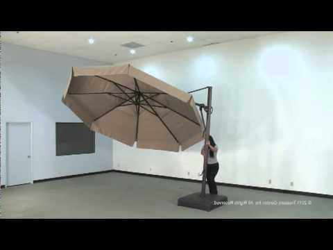 Recent Akz13 Cantilever Umbrella With Lennie Cantilever Sunbrella Umbrellas (View 17 of 25)