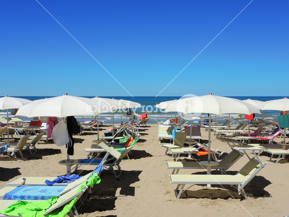 Recent Beach Umbrellas, Gazebos And Sun Beds At Italian Sandy Beaches (View 17 of 25)