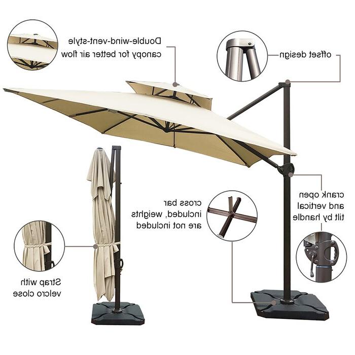 Recent Fazeley 9' X 12' Rectangular Cantilever Umbrella With Regard To Fazeley  Rectangular Cantilever Umbrellas (View 5 of 25)