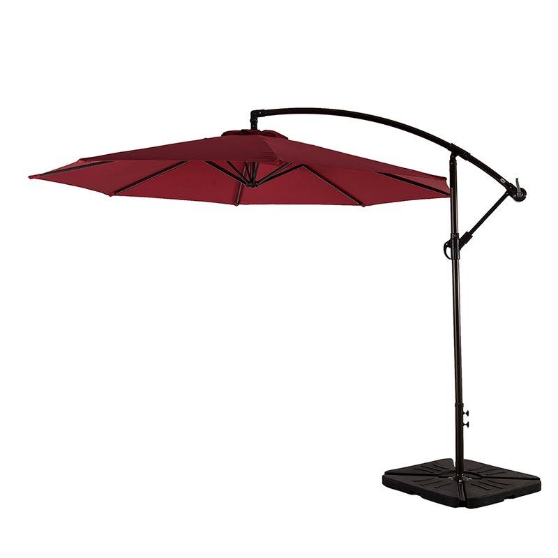 Recent Karr 10' Cantilever Umbrella regarding Muhammad Fullerton Cantilever Umbrellas