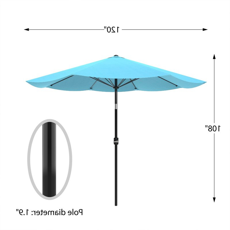 Recent Kelton 10' Market Umbrella Within Kelton Market Umbrellas (View 21 of 25)