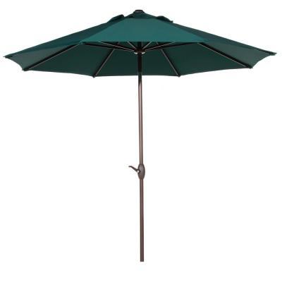 Recent Lanai 9 Ft. Half Market Patio Umbrella In Cilantro Green Polyester intended for Lanai Market Umbrellas