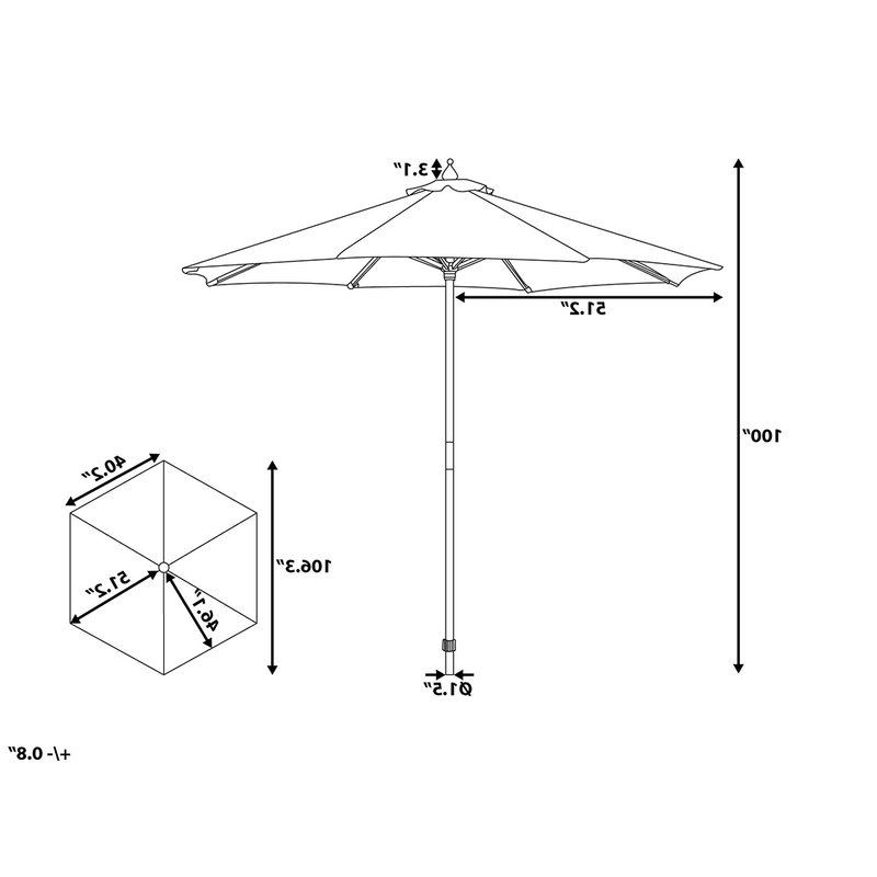 Recent Lora Market Umbrellas Regarding Espinal 9' Market Umbrella (View 2 of 25)